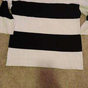 3/4 length crewneck Black/White Sweater